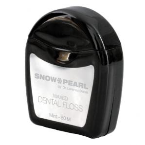 Snow Pearl Zahnseide gewachst Minze (50m)