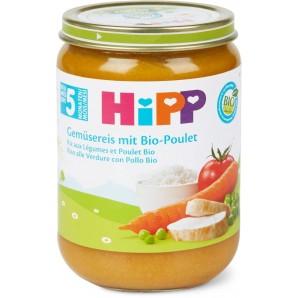 Hipp Gemüsereis Mit Bio-Poulet Glas (190g)