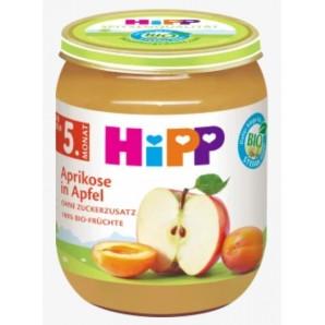 Hipp Apfel Aprikose Glas (125g)