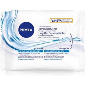 Nivea - 3-in-1 Erfrischende Reinigungstücher (25 Stk)