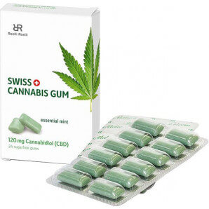 Swiss Cannabis Gum 120 mg Mint (16x24 pcs)