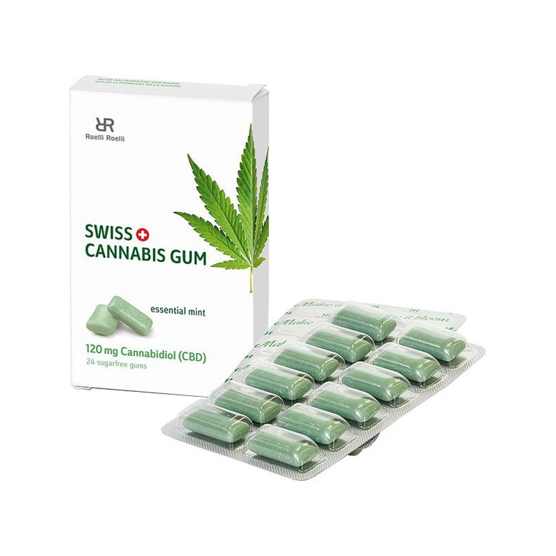 Swiss Cannabis Gum 120 mg CBD Mint (16x24 Stk)