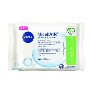 Nivea 3-in-1 Micellar Cleaning Wipes (25 pieces)