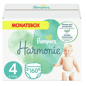 Pampers Harmonie Gr. 4 9-14kg Maxi Monatsbox (160 Stk)