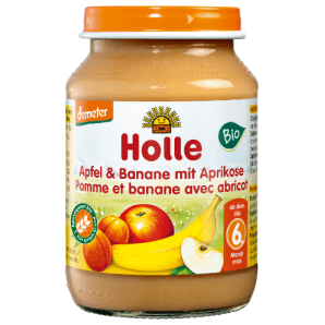 Holle apple & banana with apricot organic (190g)
