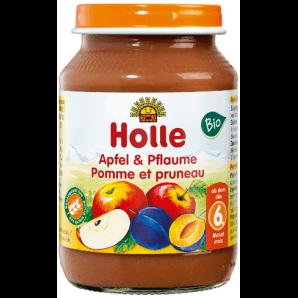 Holle apple & plum organic (190g)