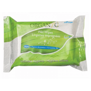 ORGANYC Intimate Wet Wipes (20 pieces)