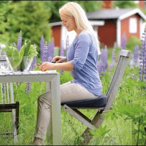 Sissel Keilkissen Sit Special 2 in 1 Grau (43x40cm)
