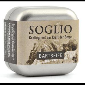 SOGLIO Bartseife mit Dose (45g)