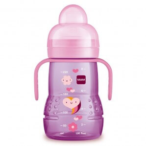 MAM Trainer Bottle With Handle 4+M 220ml Girl (1 pc)