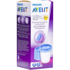 Philips Avent VIA Muttermilch Aufbewahrungsbecher 180ml (5 Stk)