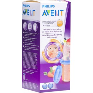 Philips Avent VIA Nahrungsaufbewahrungsbecher 240ml (5 Stk)