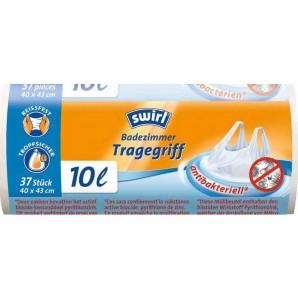 Swirl Badezimmer Müllbeutel Tragegriff Antibakteriell 10 Liter (37 Stk)