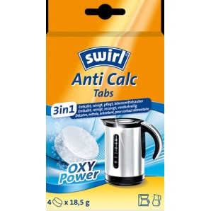Swirl Anti Calc Tabs 3-In-1 OXY Power Entkalkung 18.5g (4Stk)