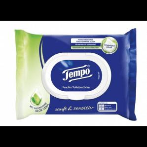 Tempo Papiers hygiéniques humides Gentle & Sensitive (42 pcs)