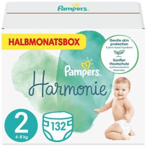 Pampers Harmonie Gr. 2 4-8kg Mini Monatsbox (132 Stk)
