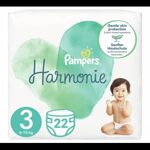 Pampers Harmonie Gr. 3 6-10kg Midi Tragepack (22 Stk)
