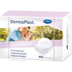 Dermaplast Gauze compress 4x6cm 80 pcs (1 pc)