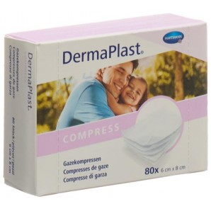 Dermaplast Compressa di garza 6x8cm 80 pz (1 pz)