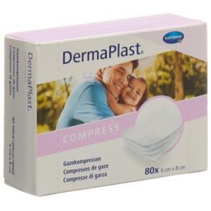 DermaPlast Gazekompresse 6x8cm 80 Stk (1 Stk)