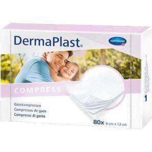 Dermaplast Gauze compress 8x12cm 80 pcs (1 pc)