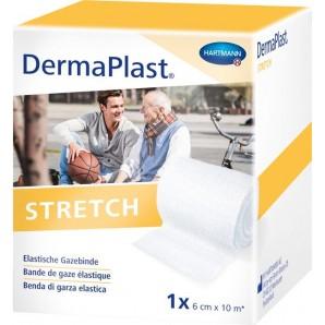 Dermaplast Bandage de gaze extensible 6cmx10m blanc (1 pc)