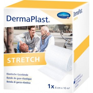 DermaPlast Stretch Gazebinde 6cmx10m weiss (1 Stk)