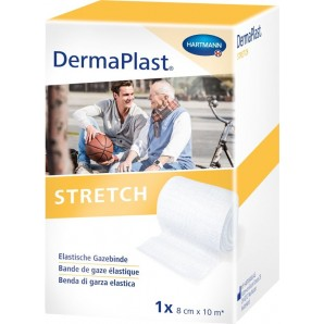 Dermaplast Stretch gauze bandage 8cmx10m white (1 pc)