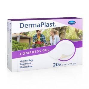 DermaPlast Wundauflage Compress Gel 5x7.5cm (20 Stk)
