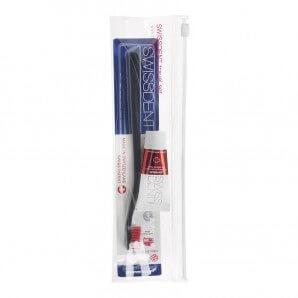 SWISSDENT Travel Set Small Toothbrush+Toothpaste 10ml (1 pc)