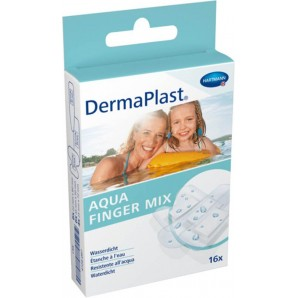 Dermaplast Aqua Finger Mix (16 pezzi)
