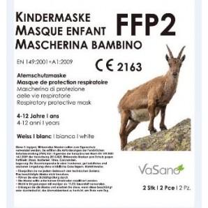 VaSano FFP2 maschera respiratoria bianca per bambini (2 pezzi)