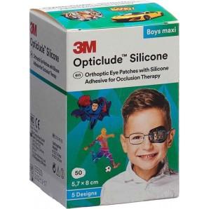 3M Opticlude Silikon Augenverband 5.7x8cm Maxi Boys (50 Stk)