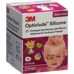 3M Opticlude Silikone Augenverband 5x6cm Mini Girl (50 Stk)