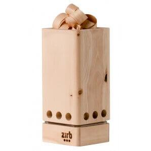 Aromalife Ventilateur de salle Zirb avec huile et boucles Zirb