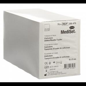 MediSet Cellodent Zellstoffwatte-Tupfer 4x5cm (70x5 Stk)
