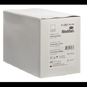 MediSet Faltkompressen Typ 24 Steril 10x10cm 8-fach (80x1 Stk)