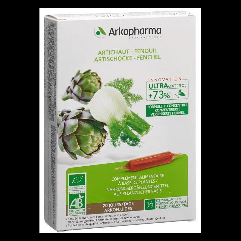 ARKOFLUIDE Artischocke-Fenchel Bio Trinkampullen (20 Stk)