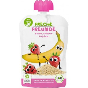 FRECHE FREUNDE Quetschmus Banane Erdbeere & Quinoa (100g)