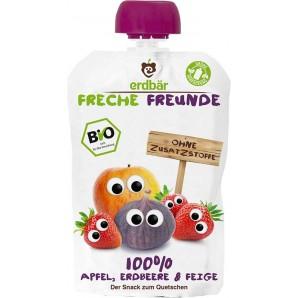 FRECHE FREUNDE Quetschmus Apfel Erdbeere & Feige (100g)