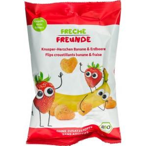 FRECHE FREUNDE Knusper-Herzchen Banane & Erdbeeren (30g)