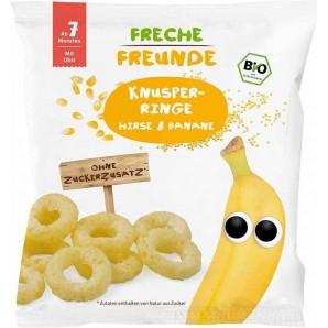 FRECHE FREUNDE Knusper-Ringe Hirse & Banane (20g)