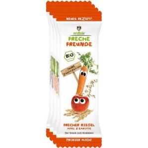 FRECHE FREUNDE Getreideriegel Apfel & Karotte 23g (4 Stk)