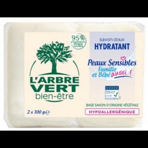 L'ARBRE VERT Öko Seife Empfindliche Haut (2x100g)