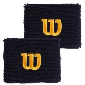Wilson Wristband Peacoat blau / gold (2 Stk)