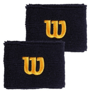 Wilson Wristband Peacoat blu / oro (2 pezzi)