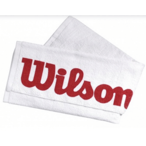 Wilson Court Handtuch weiss / rot (75x50cm)