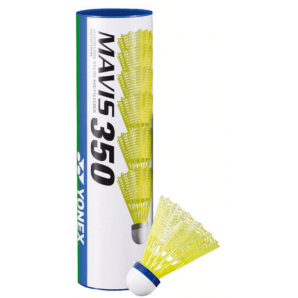 Yonex Mavis 350 Nylon (6 pezzi, giallo/blu)
