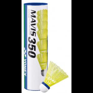 Yonex Mavis 350 Nylon (6 Stück, gelb/blau)