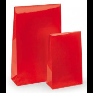 Lackpapier-Beutel mit Haftklebeverschluss (Rot)